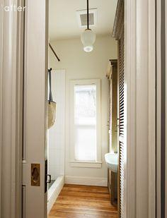 Hardwood floors in the bath!