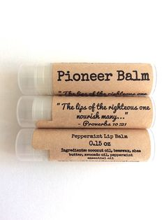 Pioneer Lip Balm Gifts - Spanish or English Looking for pioneer gifts? We offer each of our lip balms with a special pioneer label, which quotes Proverbs 10:21- the lips of the righteous one nourish many the perfect reminder for our friends that their hard work is appreciated!