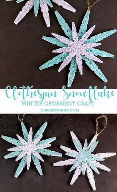 36 Creative Christmas clothes Pin Crafts and Ideas 2020 – Kunsthandwerk – Crafts Dıy 2020 Diy Christmas Fireplace, Diy Christmas Snowflakes, Snowflake Craft, Snowflake Decorations, Christmas Ornament Crafts, Popsicle Stick Snowflake, Christmas Decorations, Christmas Crafts For Kids, Xmas Crafts