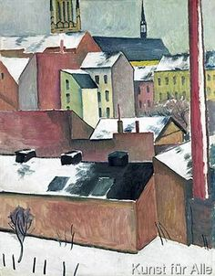 August Macke - The Church of St Mary in Bonn in Snow, 1911