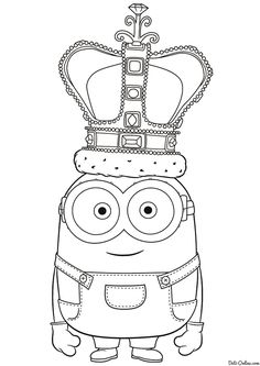 Minion Coloring Pages, Cute Coloring Pages, Free Printable Coloring Pages, Free Coloring, Adult Coloring Pages, Coloring Pages For Kids, Coloring Sheets, Coloring Books, Mandala Disney
