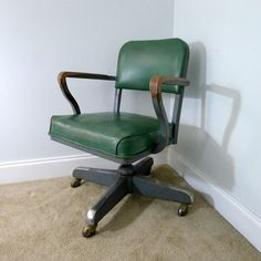 $200 desk chair Etsy listing at https://www.etsy.com/listing/207190921/vintage-green-steelcase-green-vinyl-desk