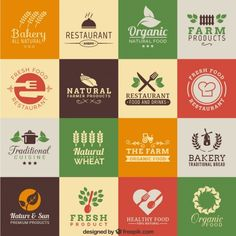 Natural products Free Vector