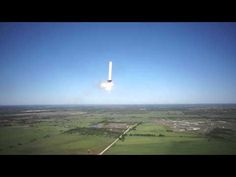 Grasshopper rocket flies up 250m, holds against wind and lands. Vid taken from our hexacopter