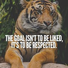 I say this all the time! You don't have to like me, but I will be treated with respect.
