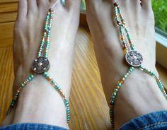 For Sara. SUNFLOWER BAREFOOT Sandals Hippie FESTIVAL por