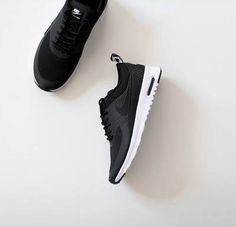 black {nike} shoes ~ perfect for fall ♡
