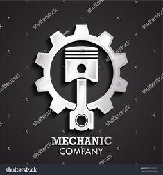 3d piston gear silver logo