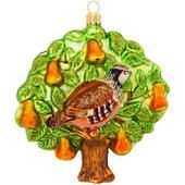 2011 Bronner's Annual Partridge In Pear Tree Glass Ornament