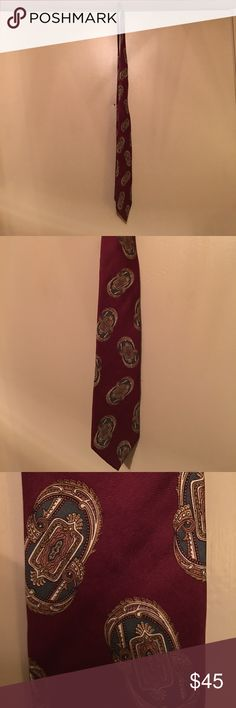 Christian Dior Silk Tie Men's Print Neck Tie By Christian Dior Monsieur. Material: 100% Silk. Fabric Was Woven In Italy and Made In USA. In Good Condition For Being Probably Vintage. Christian Dior Accessories Ties