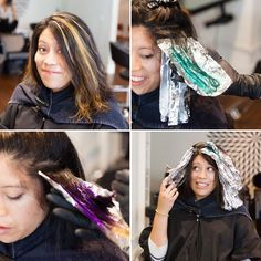 Read this first-hand account of a brunette getting oil slick hair.