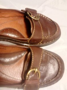 1730d80abb BORN Leather Flats Shoes Size 7.5 M Dark Brown Professional Shoes, Foot  Love, Leather