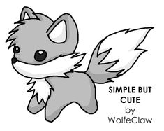 Simple But Cute by S Wolf on DeviantArt Easy animal drawings Cute wolf drawings Cute animal drawings