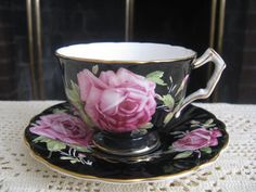 """My Aunt Carol always said, """"You are not a true collector of tea cups, unless you have a black tea cup."""""""