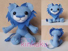 Plush - Blue Lion by kinkaku.deviantart.com on @deviantART