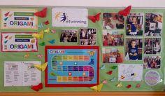Acercando Aulas: Gamificando el aula Juego de las emociones, Proyecto eTwinning Origami.