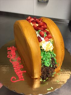 Taco Cake Taco Cake, Taco Cupcakes, Cupcake Cakes, Taco Party, Fiesta Party, Dragons Love Tacos, Piece Of Cakes, Cute Cakes, Creative Cakes