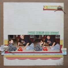 Scrapbook Page Starters: Arrange Photos and Elements on a Shelf | Brenda Becknell | GetItScrapped