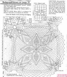 Crochê Gráfico: Colcha de crochê