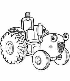 tractor coloring pages for kids printable | Tractor Tom Coloring Pages For Kids - ColoringPagesABC.com