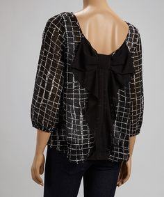 Black Lattice Bow Top | Daily deals for moms, babies and kids