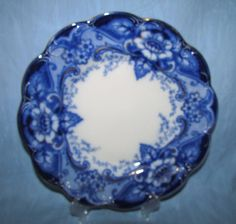"Flow Blue Johnson Brothers Argyle 9 3/4"" Plate"