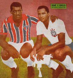 Benê e Oreco. Crédito: revista A Gazeta Esportiva Ilustrada Nº 202 - 1962.
