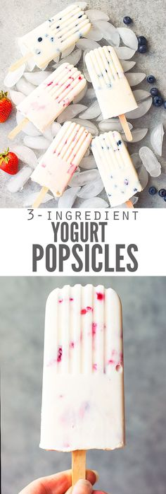 homemade popsicles healthy Easy fruit & yogurt popsicles are my toddlers' favorites. They like vanilla & strawberry Greek yogurt, but this creamy popsicle recipe works with t Healthy Popsicle Recipes, Yogurt Recipes, Baby Food Recipes, Cooking Recipes, Recipes With Greek Yogurt, Lasagna Recipes, Ramen Recipes, Noodle Recipes, Meatball Recipes