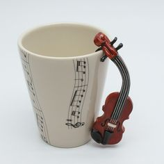 I WANT THIS! Cute cup for the musician in the family