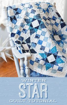 Quilting Blogs, Quilting Tutorials, Quilting Designs, Quilting Projects, Msqc Tutorials, Quilting Ideas, Blue Quilts, Star Quilts, Easy Quilts