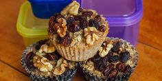 Busy mornings? Then you'll love these baked oatmeal cups with walnuts and raisins. Make these ahead of time for the whole week and make your mornings a lot easier.