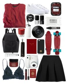 """weird"" by justina-pereyra on Polyvore featuring moda, adidas, Serge Normant, Fujifilm, Stila, Rodin Olio Lusso, T By Alexander Wang, Urbanears, NARS Cosmetics y Tory Burch"