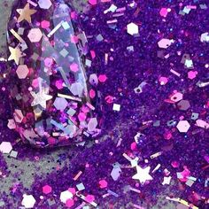 """Amazon.com: Custom & Fancy Approx 0.5 Teaspoon of Small """"Nail Art"""" Party Confetti Made of Premium Mylar w/ Sparkling Magic Good Witch Violet Dots & Stars Chunky Glitter Dust Mix [Purple, Pink & Gold]: Toys & Games"""