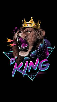 Rad king - Wallpaper for iPhone and Android Bike Wallpaper, Movies Wallpaper, Cats Wallpaper, Hipster Wallpaper, Wallpaper Wallpapers, Iphone Wallpapers, Lion King Art, Lion Art, Arte Do Hip Hop