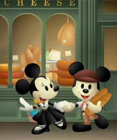 Created this Mickey Mouse and Minnie Mouse piece for the Disney California Adventure Food and Wine Festival Mickey And Minnie Love, Mickey Mouse Art, Mickey Mouse And Friends, Disney Mickey, Walt Disney, Disney Love, Disney Magic, Mouse Pictures, Disney Artwork