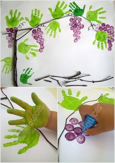 13 Super Cool Grape Crafts to Make This Spring - Fall Crafts For Kids Fall Crafts For Toddlers, Toddler Crafts, Diy Crafts For Kids, Art For Kids, Arts And Crafts, Paper Crafts, Bible School Crafts, Daycare Crafts, Fruit Crafts