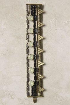 crystals & sapphire bracelet #geometric #chevron