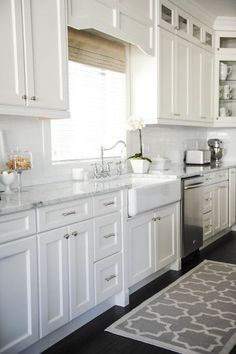Elegant white kitchen spaces we love: http://www.stylemepretty.com/collection/2955/