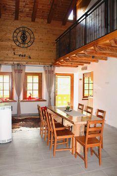 Sala da pranzo e vista terrazzo - Ciase Baufie Albergo Diffuso Dolomiti