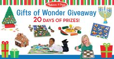 Gifts of Wonder Giveaway!Enter ONCE,for your chance to win amazing giftsthat ignite imaginations and inspire#CountlessWaysToPlay