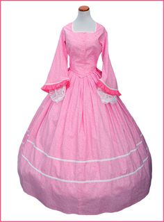 1800's 2 pc Civil War Victorian Pink Tea Dress by CivilWarBoutique