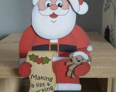Hayleys Creative Cards by HayleysCreativeCards Father Christmas, Santa Christmas, Christmas Cards, Naughty Or Nice List, Handmade Envelopes, Creative Cards, All Design, Wood Crafts, Shelf