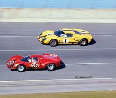 Ford vs Ferrari at Daytona 1967 - Louis Galanos Sports Car Racing, Sport Cars, Race Cars, Auto Racing, Road Racing, Classic Sports Cars, Best Classic Cars, Car Man Cave, Sports