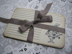 10 Recipe Cards / Alice in Wonderland / White por FyreflyHollow, $8.99