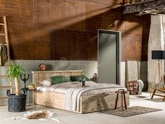 Tijdloos steigerhout bed Modern | scaffolding wood bed Modern…