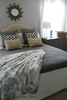 Beautiful master bedroom reveal by The Shabby Nest!