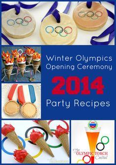Olympics Opening Ceremony Party Recipes #typeaparent