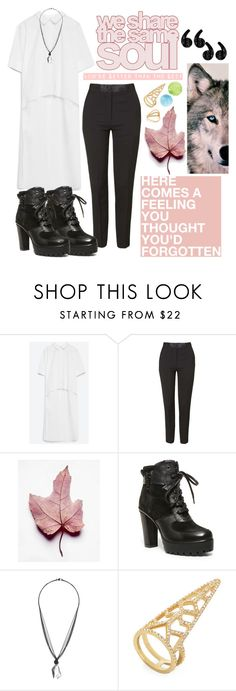 """remember there is only one of you."" by bluveraa ❤ liked on Polyvore featuring Zara, Topshop, Steve Madden, BCBGMAXAZRIA, Gorjana, women's clothing, women, female, woman and misses"