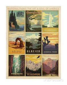 National Parks: The Art & Soul Of America Kunst von Anderson Design Group bei AllPosters.de