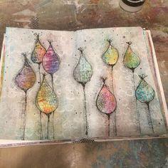 Janice Hofman ( Journal page this evening . Artist Journal, Art Journal Pages, Art Journals, Art Journal Inspiration, Journal Ideas, Journal Challenge, Art Doodle, Mixed Media Art, Mix Media